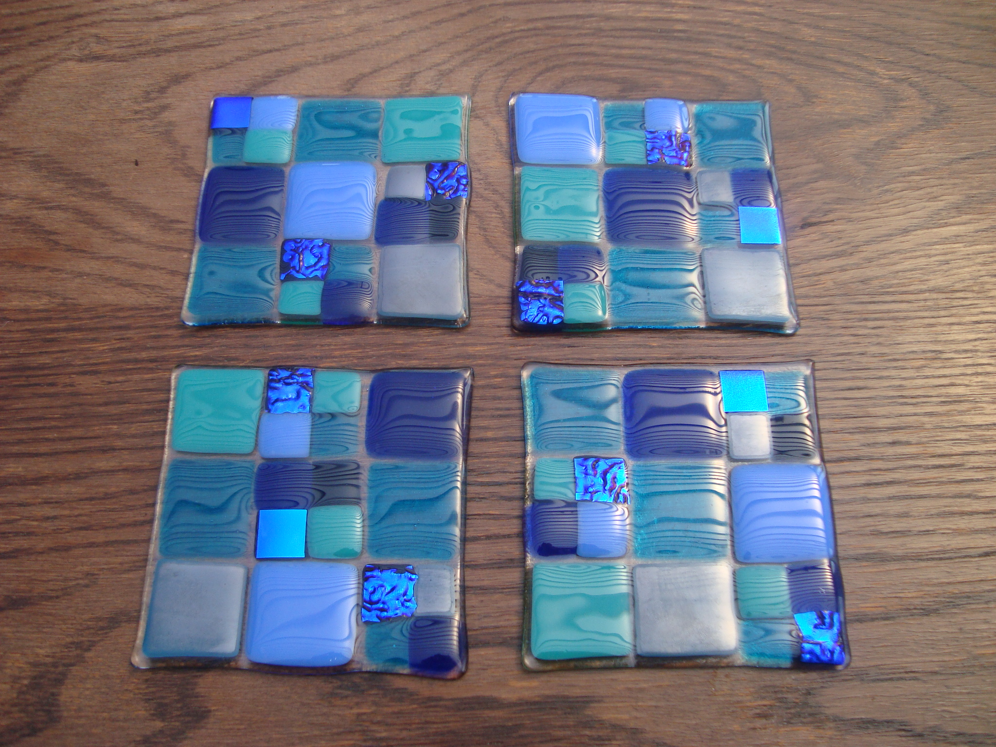 Four Glass Coasters